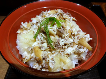 さ竹@恵比寿 (5)小ガリ鯖飯もりそば590鶏天ぷら120
