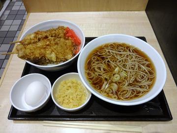 いわもとQ@神保町 (8)肉天丼セットかけ760
