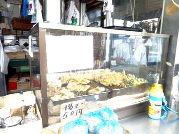 山田製麺所@瑞江(2)そば320いわし140春菊天100テイクアウト揚玉50