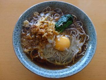 かわい庵@大森台(2)干麺そば(ふし)60