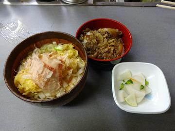 あさま@平和島 (4)いか天きしめん360ミニ牛丼260