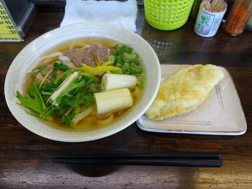 おにやんま@青物横丁 (3)合鴨うどん並600鰆の天ぷら180