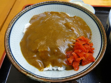 どん八@大鳥居(5)おはようセット450ごぼうそばミニカレー丼