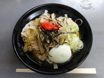 あさま@平和島(3)冷やし肉なんきしめん440ゆで卵追加60