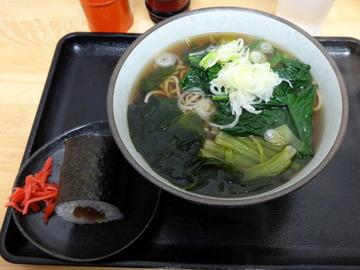 稲浪@飯田橋(4)ほうれん草そば330かんぴょう巻60