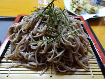 食事楽@沼田 (7)ざるそば550舞茸の天ぷら550