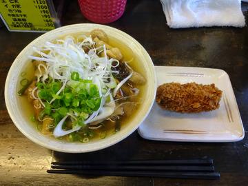 おにやんま@青物横丁 (4)山菜きのこ生姜あん並600牡蠣コロ180