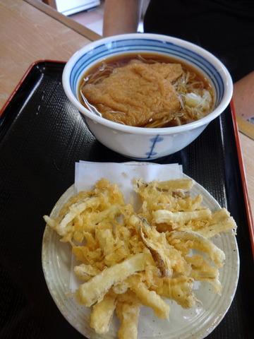 ねぎどん@入谷(5)ねぎ肉そば570きつねそば440ごぼう110