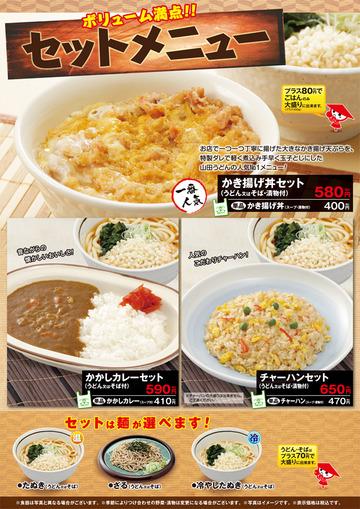 山田うどん多摩大橋店@小宮(18)煮込みソースかつ丼セット790