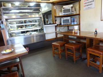 さかゐ食堂@扇町(10)月見そば310おかず大(ハムエッグ)250