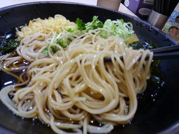 ゆで太郎芝浦4丁目店@三田 (10)夏野菜とゲソのかき揚げそば520