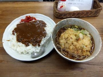 むさしの@鷺ノ宮(11)カレーライスセット天ぷらそば(やさい)620
