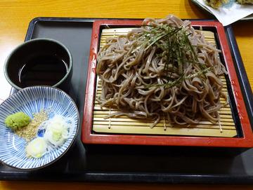 食事楽@沼田 (6)ざるそば550舞茸の天ぷら550