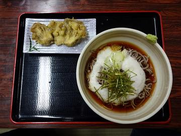 いずみ@甲斐大泉 (20)冷とろろそば670舞茸の天ぷら200