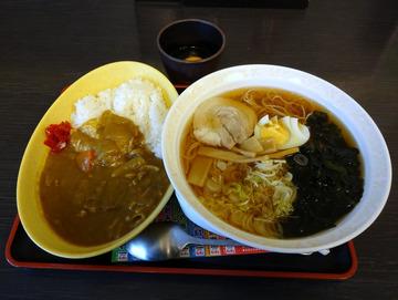 ゆで太郎東糀谷店@大鳥居 (6)ミニカレーラーメンセット780たまご60