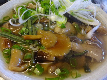 おにやんま@青物横丁 (7)山菜きのこ生姜あん並600牡蠣コロ180