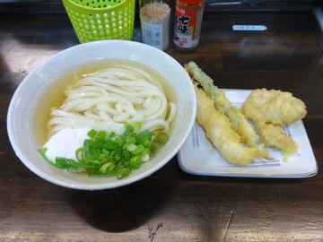 おにやんま@青物横丁(6)冷かけ並天ぷら470温泉卵60