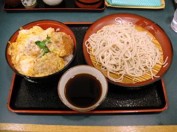 小諸そば竹芝店@浜松町(4)ざるそば300カツ丼セット690
