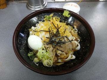 あさま@平和島(3)冷やし肉なんきしめん440ゆで卵60たぬき30
