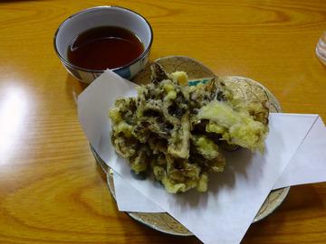 食事楽@沼田 (4)ざるそば550舞茸の天ぷら550