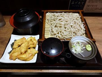 さ竹@恵比寿 (4)小ガリ鯖飯もりそば590鶏天ぷら120