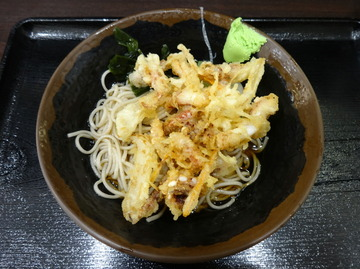 峠の蕎麦@三ノ輪(4)冷しゲソ天そば450