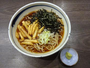 20171005蕎麦BAR HATARI@住吉 (28)花巻そば780フライドポテト