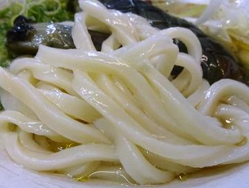 おにやんま@青物横丁 (5)茄子の煮びたし涼風うどん580ホキ天260