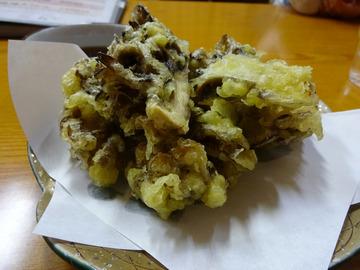 食事楽@沼田 (5)ざるそば550舞茸の天ぷら550