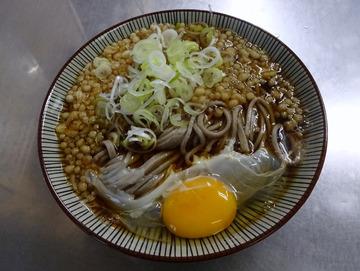 田吾作@北八王子 (6)たぬき玉子蕎麦390