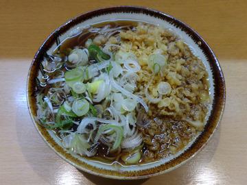 20151126彩彩@大井町(2)たぬきそば400味付玉子100