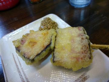 おにやんま@青物横丁 (3)山菜きのこ生姜600厚切ベーコン130