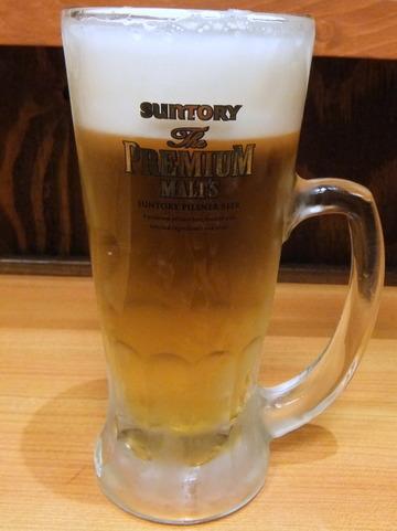 嵯峨谷@渋谷(5)天ぷらそば380生ビール150