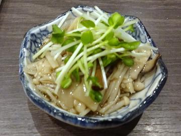 20171005蕎麦BAR HATARI@住吉 (12)4種類のきのこのなめ茸280