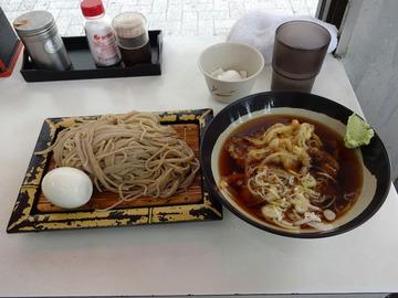 そばっ子@金町 (5)かき揚天ぷらつけそば350ゆで玉子50