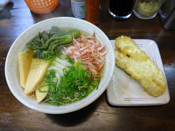 おにやんま@青物横丁 (3)春の彩三色うどん600鰆の天ぷら250