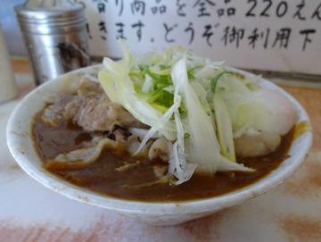 南天@椎名町 (6)肉カレーそば480