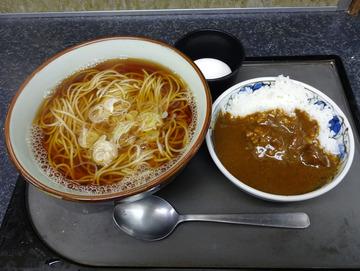 文殊市川店@市川 (5)そば定食520そばカレー茹で卵