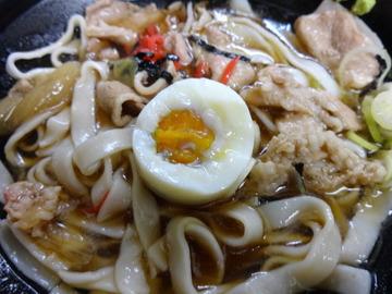 あさま@平和島(6)冷やし肉なんきしめん440ゆで卵追加60