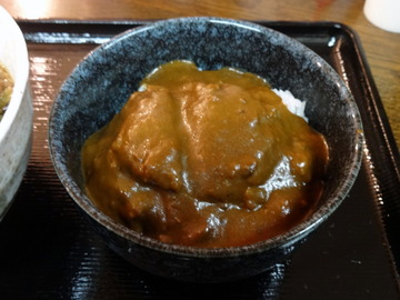 東西そば@戸越公園(13)たぬきそば定食B500カツカレーチェンジ50