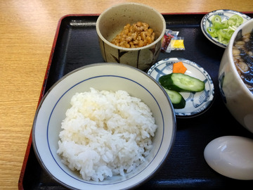 ちどり@鮫洲 (10)納豆ごはんとそばセット450