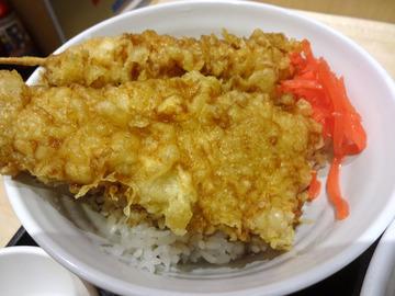 いわもとQ@神保町 (10)肉天丼セットかけ760