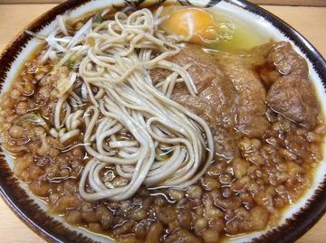 彩彩@大井町(3)たぬき玉そば380+40きつね80