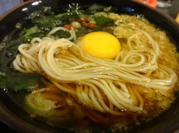 ゆで太郎大井町店@大井町(7)かきあげ丼セット温そば500たまご60