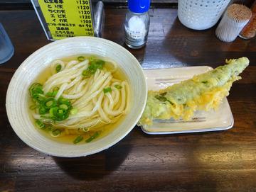 おにやんま@青物横丁 (3)冷やかけ波300甘辛ピーマンの天ぷら100