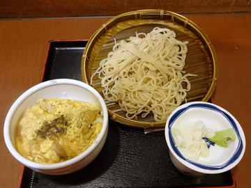 信州屋@渋谷 (7)フォアグラ玉子とじ丼セット700