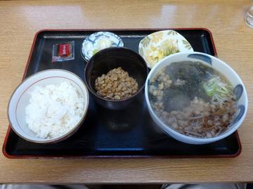 ちどり@鮫洲(10)納豆ごはんとそばセット450