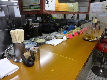 銀座堂@上尾(7)鳥肉そば420ごぼう天100半カレー270