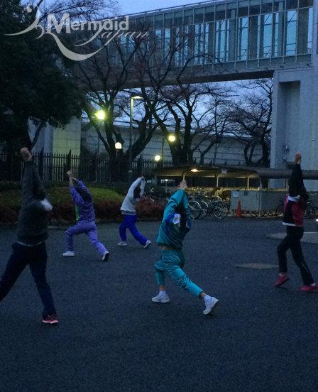 2日目朝の体操