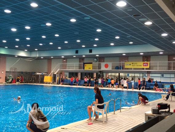 水中練習の様子